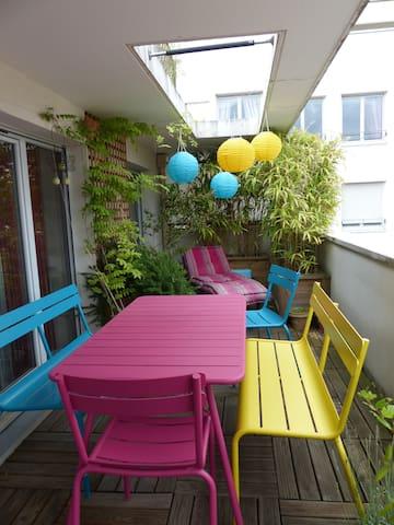 Lyon Dernier étage terrasse  - Lyon villeurbanne - Apartament