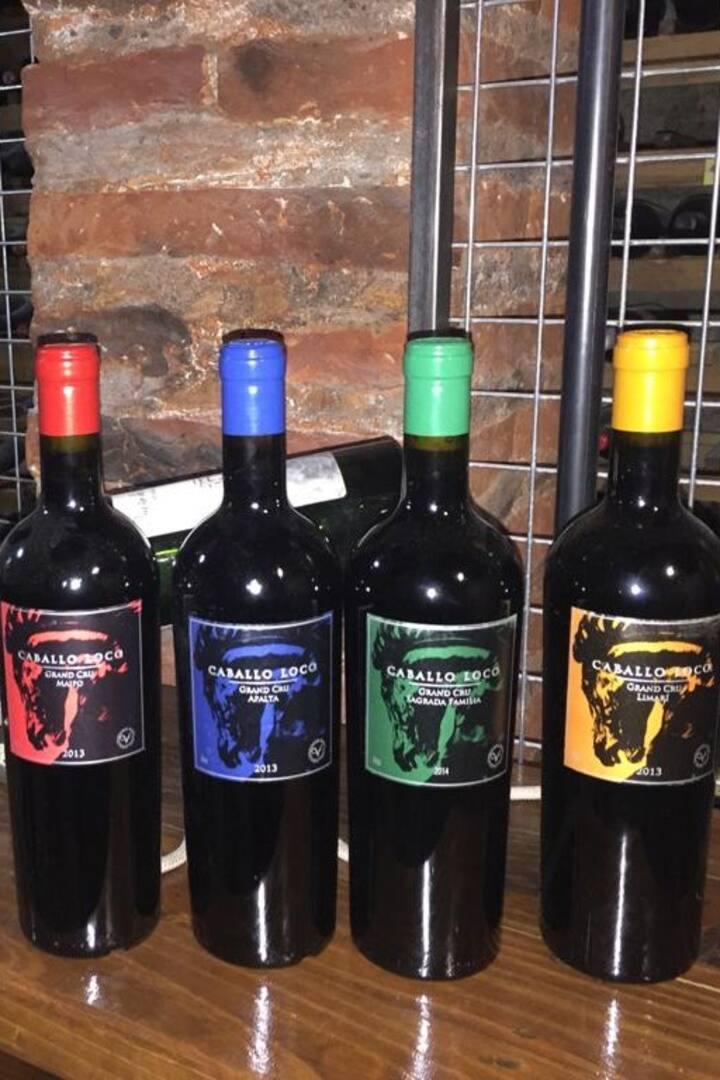 Catando vinos Caballo Loco