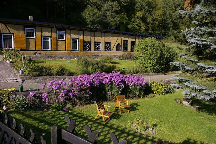 A unique studio on the estate of an old mill, in the midst of attractive countryside.
