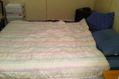 Double Bed in Room with Skylight - Montréal Ouest - บ้าน