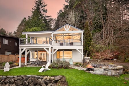Beachfront Hideaway - Gorgeous Views of Seattle - Остров Бейнбридж
