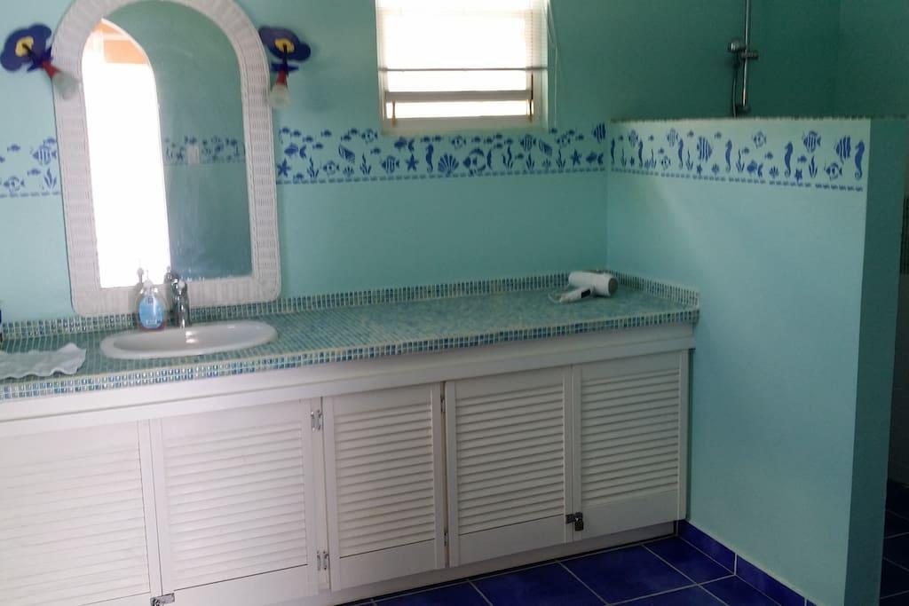 Your bathroom on the first floor.