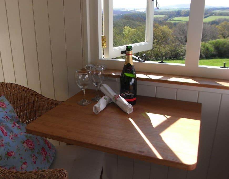 Lovely views and an oak drop-leaf table.