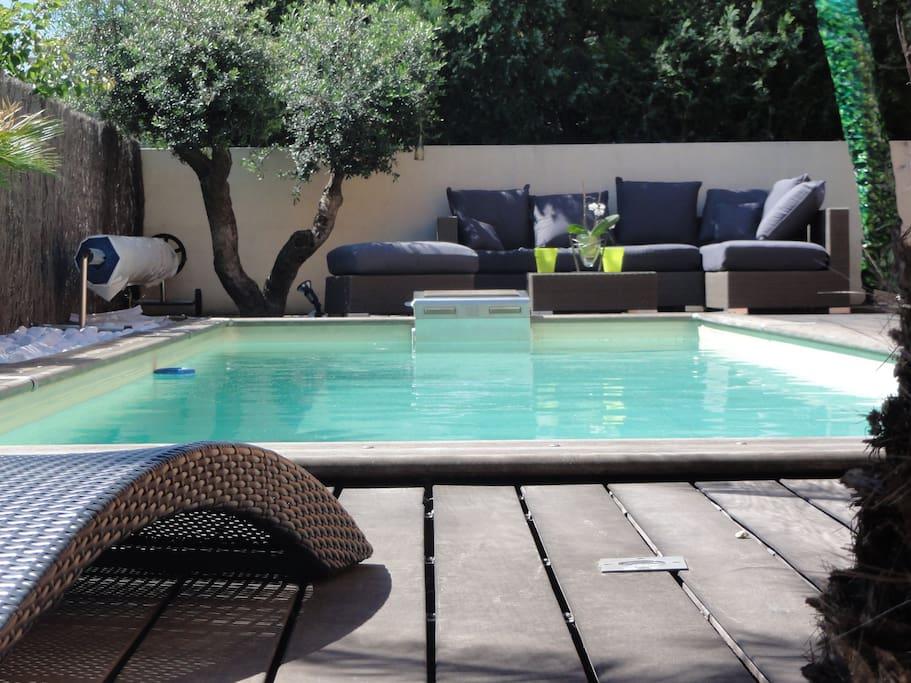 Superbe villa piscine beziers 8 p maisons louer for Piscine beziers