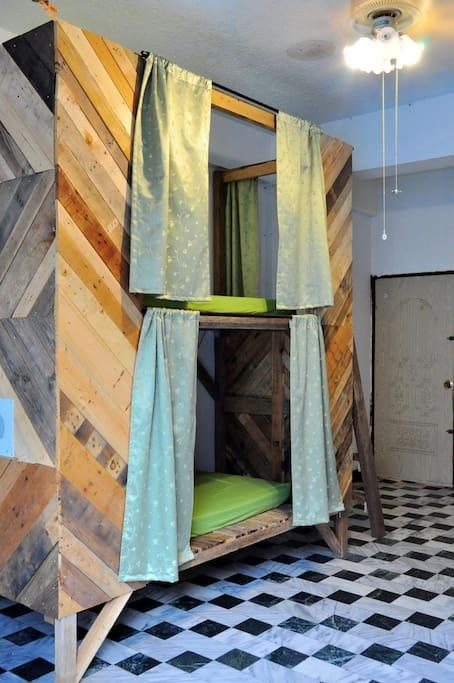 Handmade curtains, handmade sheets!