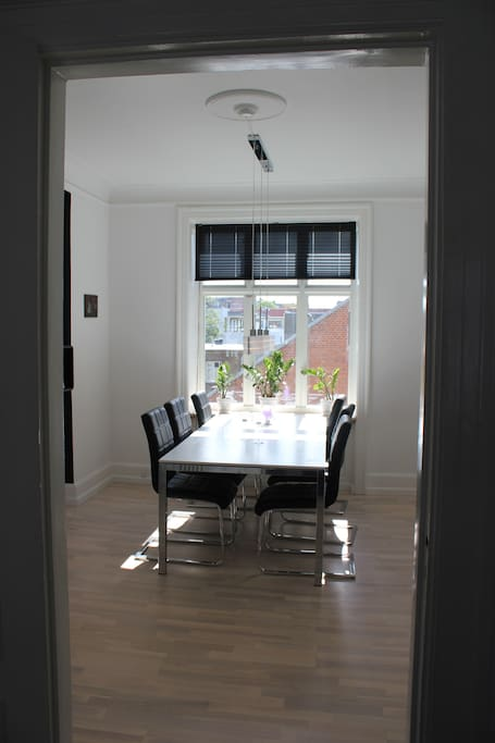 Dining room with amazing light