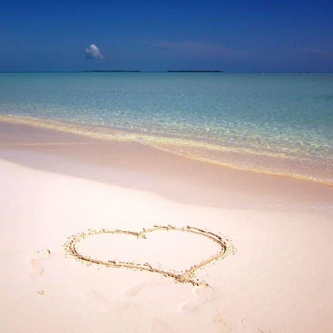 3.5 miles of white sand beach