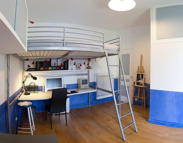 Chambre,SdB privé, Ptit déj,Centre - Aix-les-Bains - Apartment