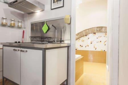 อพาร์ตเมนต์แบบหนึ่งห้องนอนเรียบง่าย