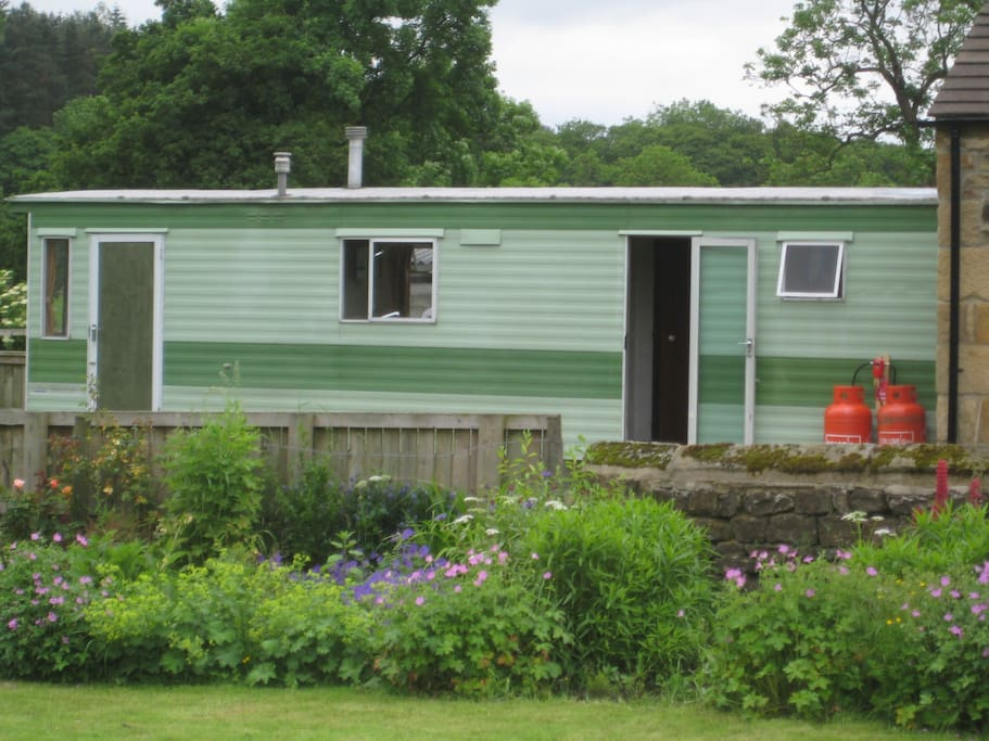 This is the mobile home situated in our farm