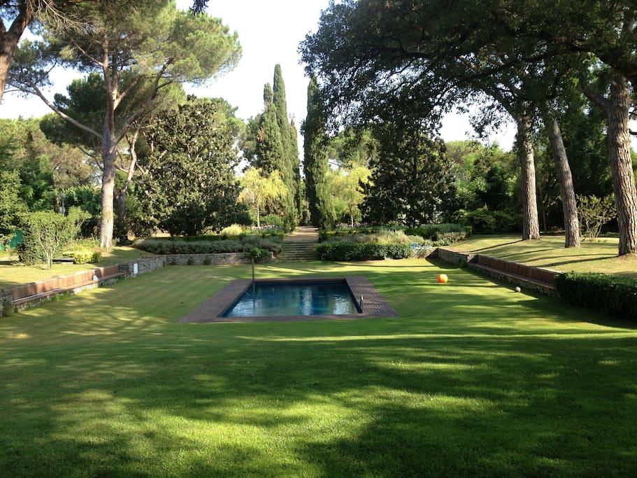La vista del jardín es preciosa, de lo mas relajante!