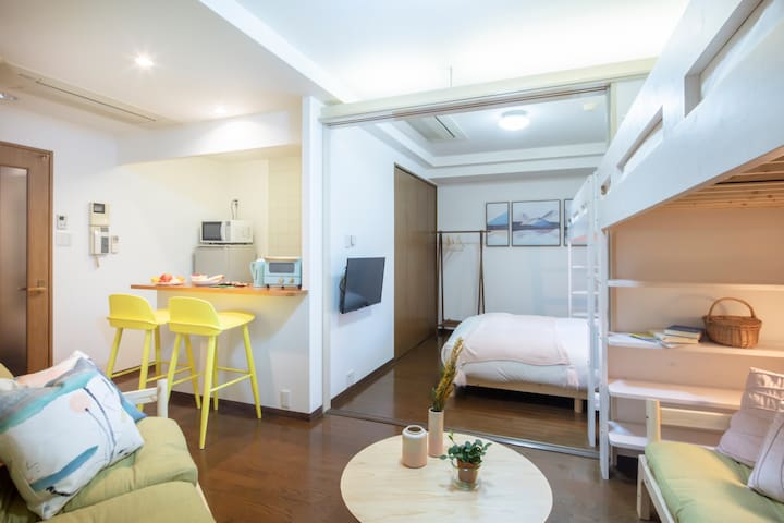 Umeda & Osaka Station!6Beds! near U.S. Consulate