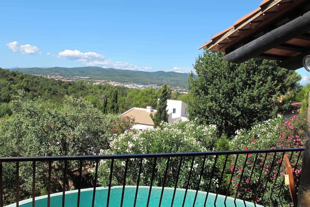 Great views from the villa balcony
