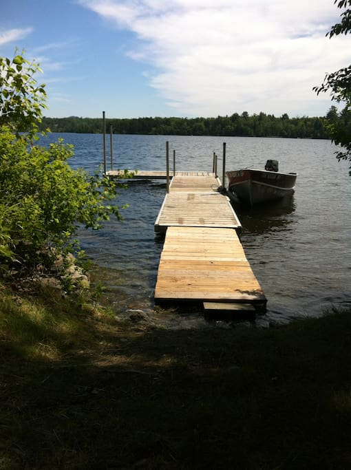 Dock in front of cottage