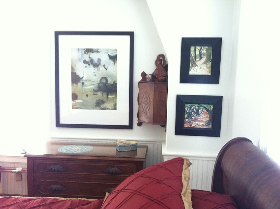 Another dresser in your room - yes, we do LOVE art.