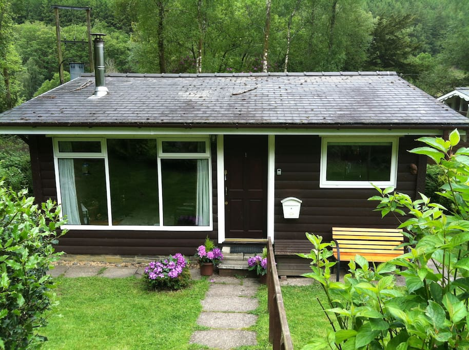 The cabin - surrounded by woodland