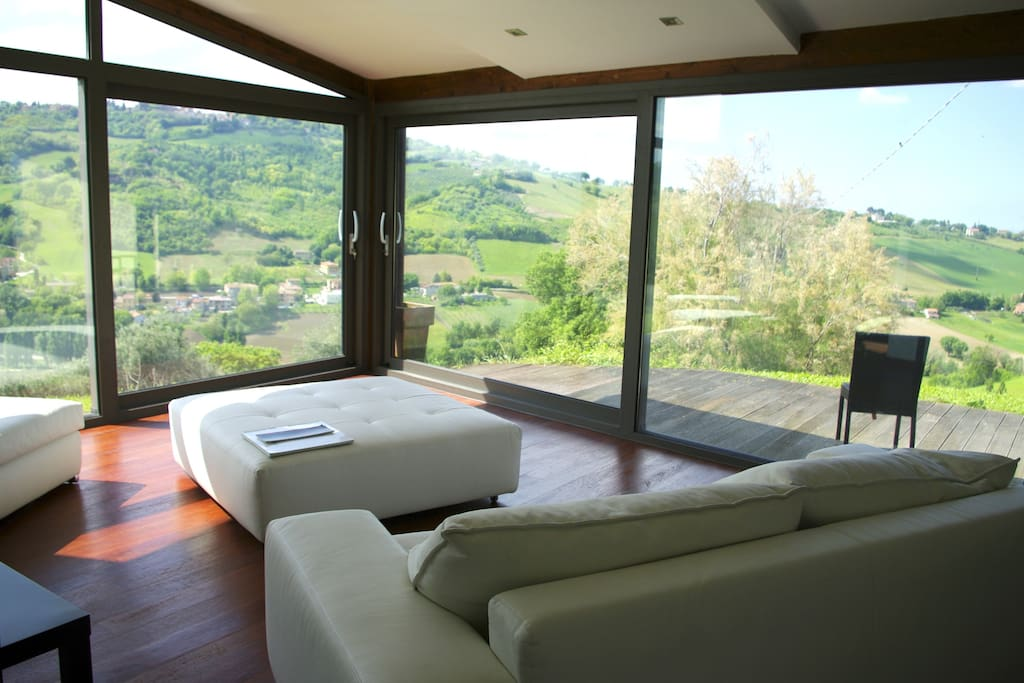 Un Living panoramico