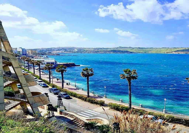 St Paul's Bay Promenade...only 1 min walk away!!