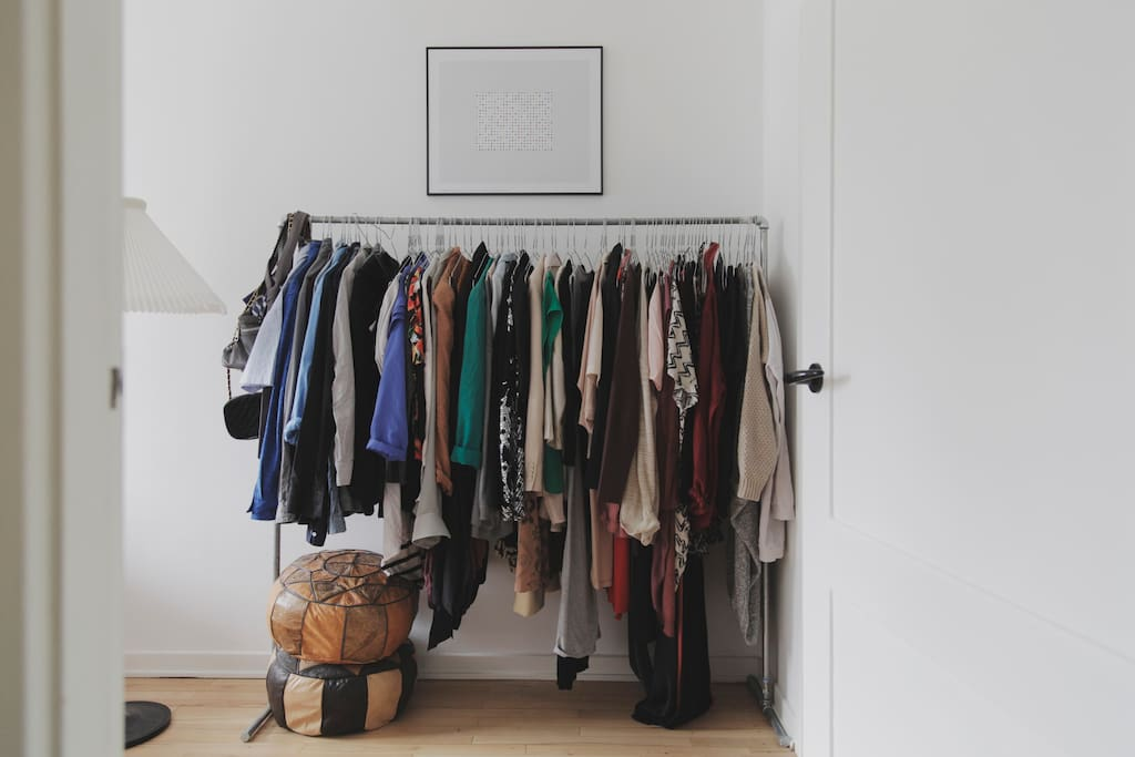 We'll empty some hangers for your clothes! (There is also a small walk-in closet for you to use)
