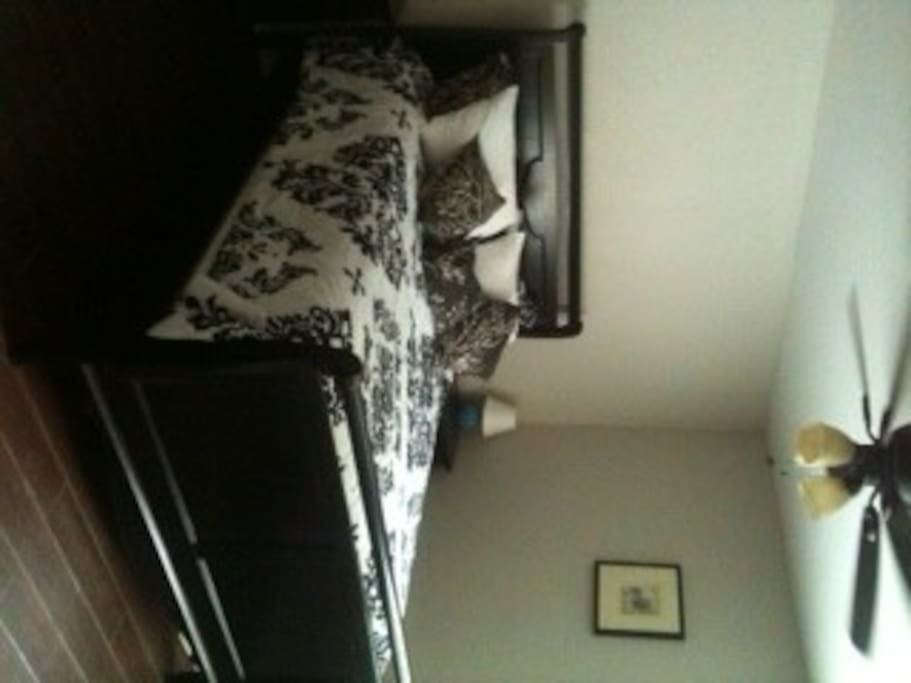 Queen Sleigh Bed with pillowtop