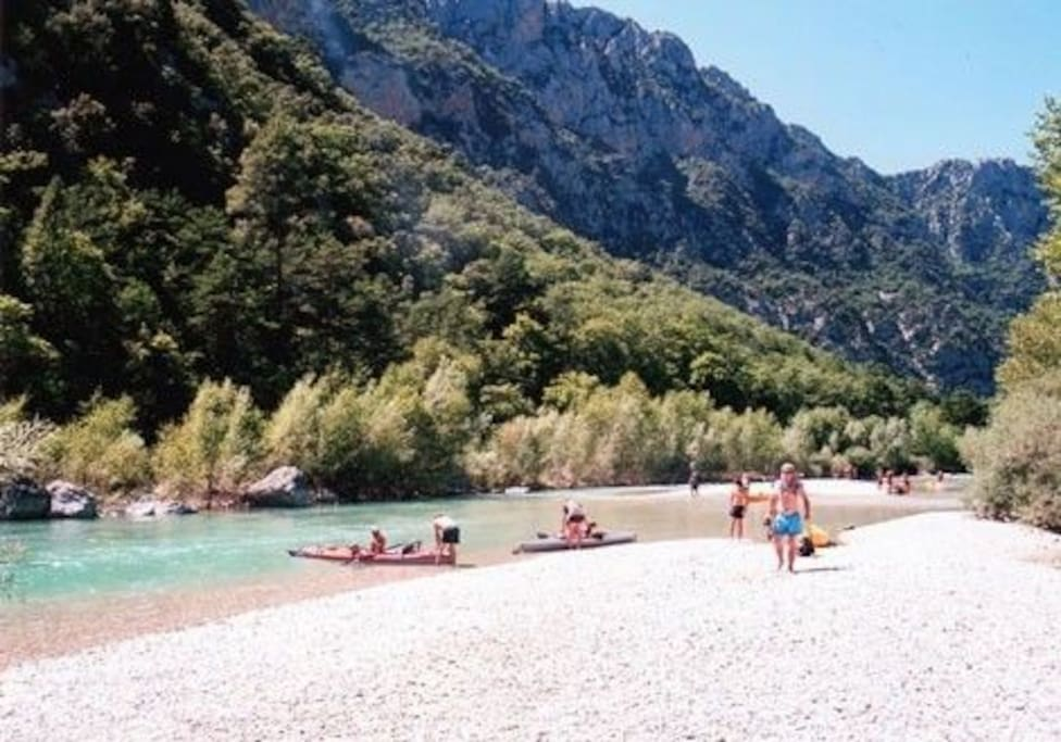 Beach upstream in the Gorges du Verdon - France's Grand Canyon!