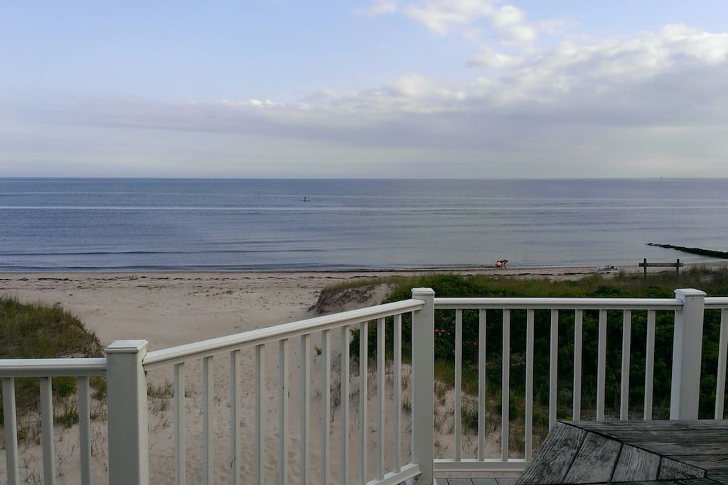 Every room has gorgeous views. Beach, sand, and the wide open sea!