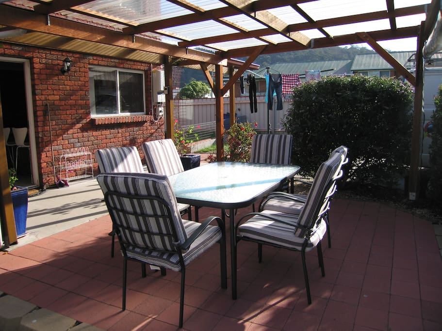 Alfresco dining area