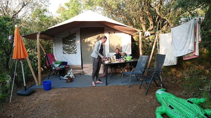 Safari tent at perfect location on Elba