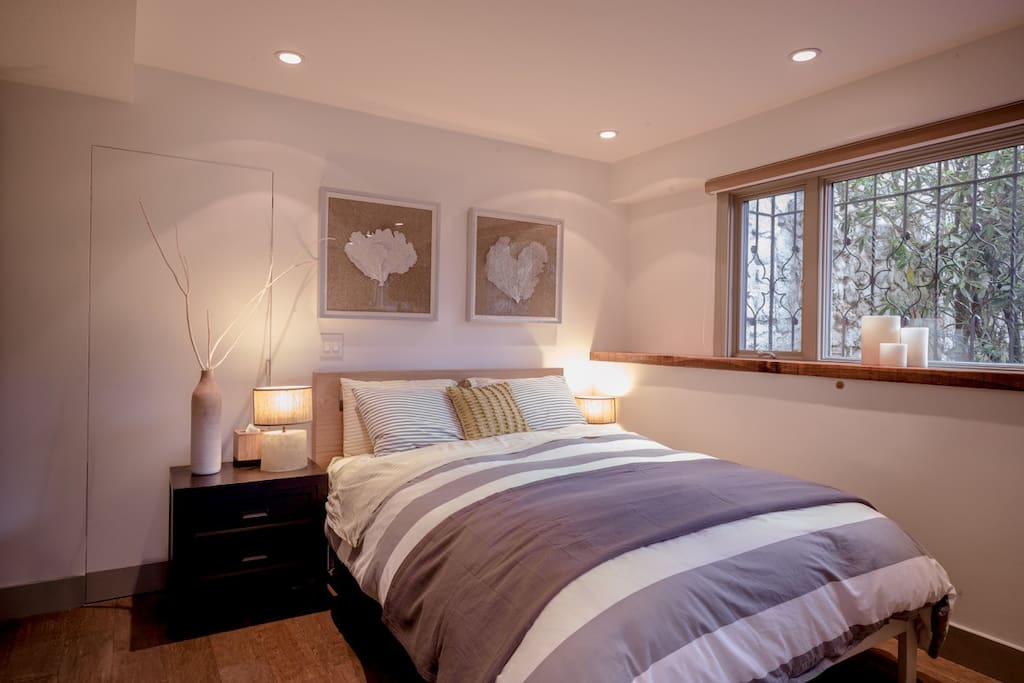 Large windows provide natural light