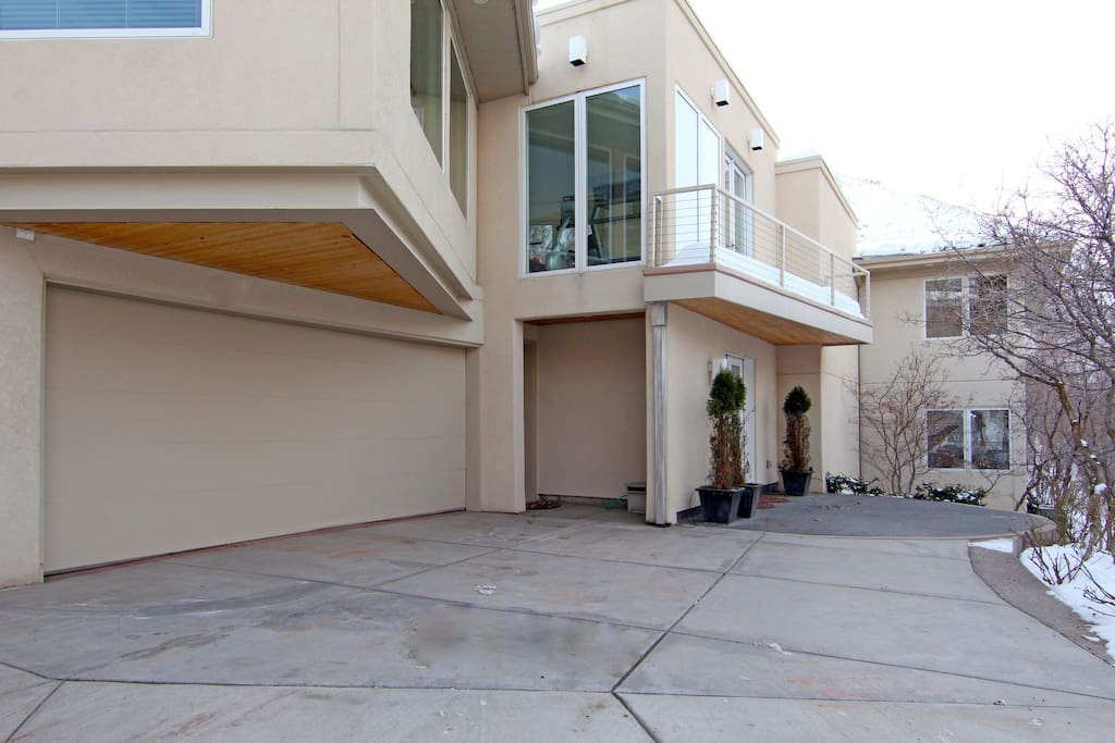 Main entry. Heated garage and heated driveway and walks.  Great in winter!