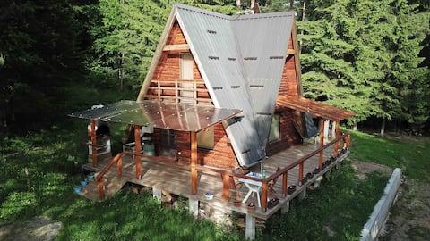 Mountain Log House, Near Olovo