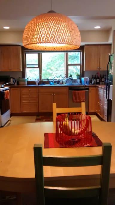 Large, open, spacious kitchen