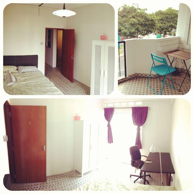 katong balcony room c appartements louer singapour singapour. Black Bedroom Furniture Sets. Home Design Ideas