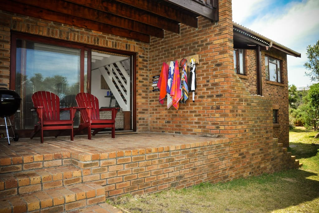 A sheltered outer area where you can relax and enjoy a barbecue.