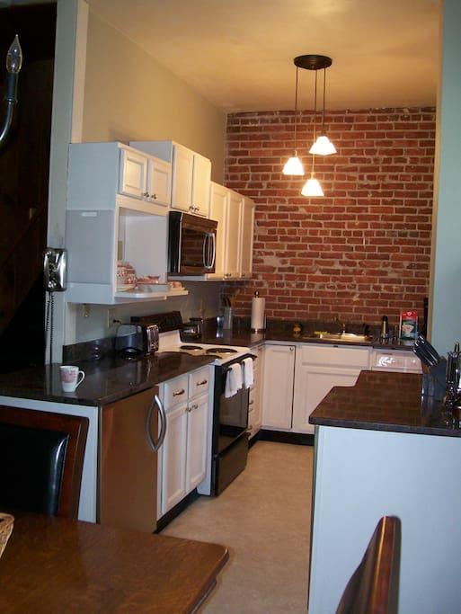 Kitchen w/ 2 under counter refrigerators