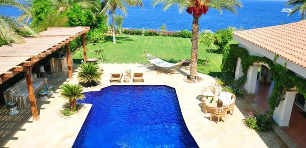sea front luxury villa with privet beach &pool.