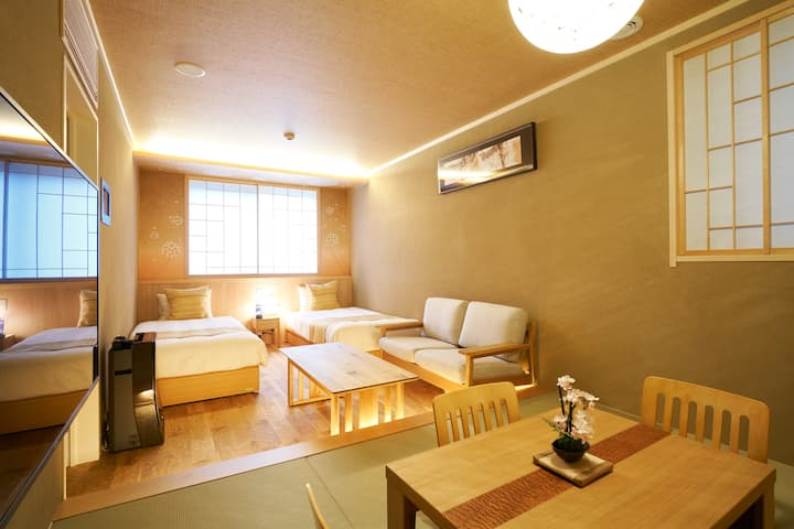 Grate access to Kanazawa Station! With WiFi & kitchen ♪ This hotel has  the theme of four seasons for 4 guests☆