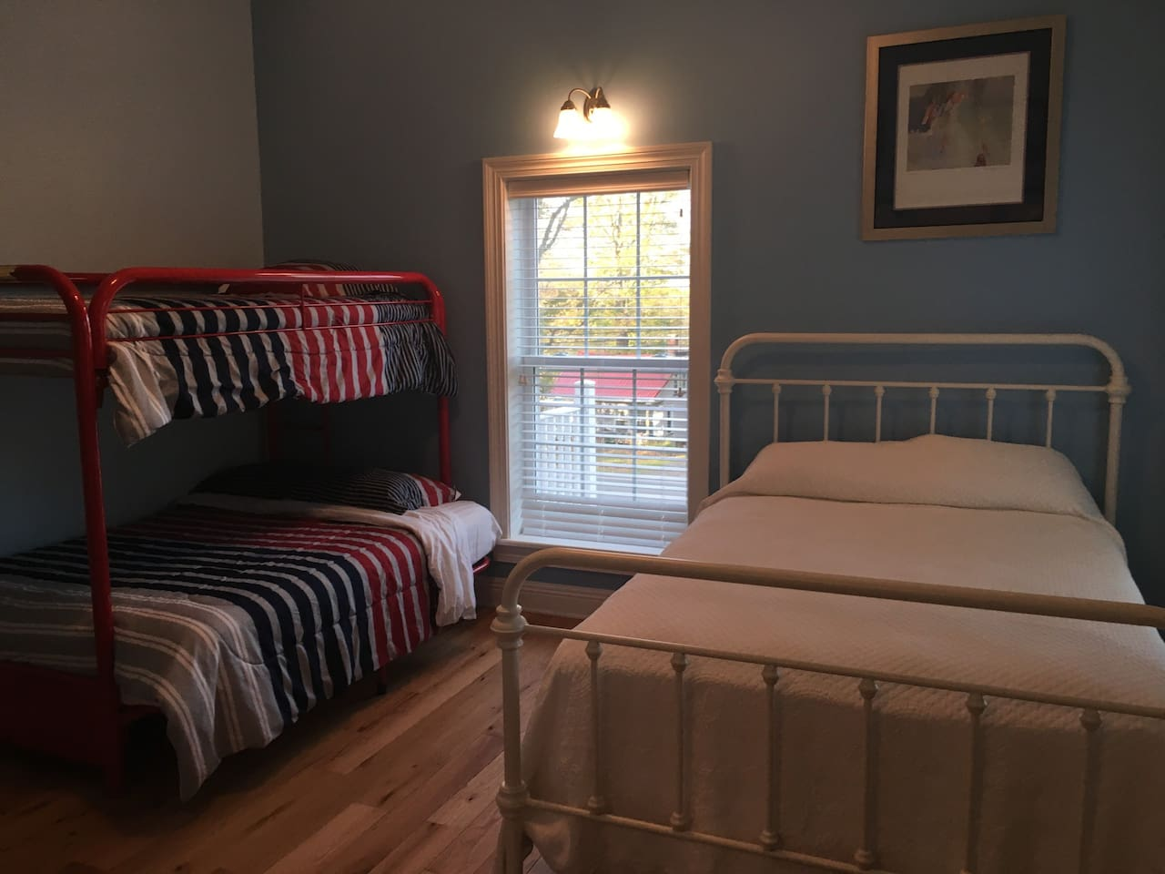 The Red, White & Blue Room has become a favorite at Crystal Run Suites