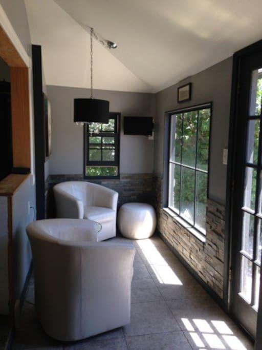 Cozy sun room