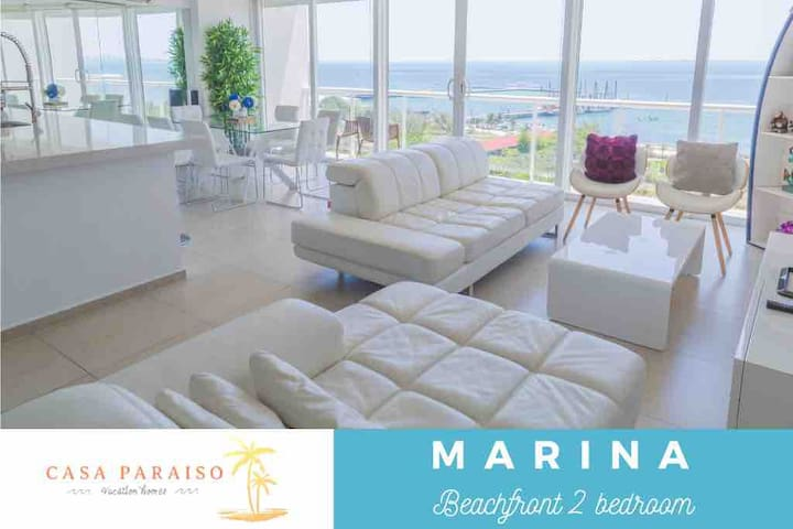 ☆ MARINA Beachfront 2 BDR with oceanview ☆
