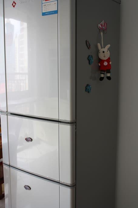 Three door fridge