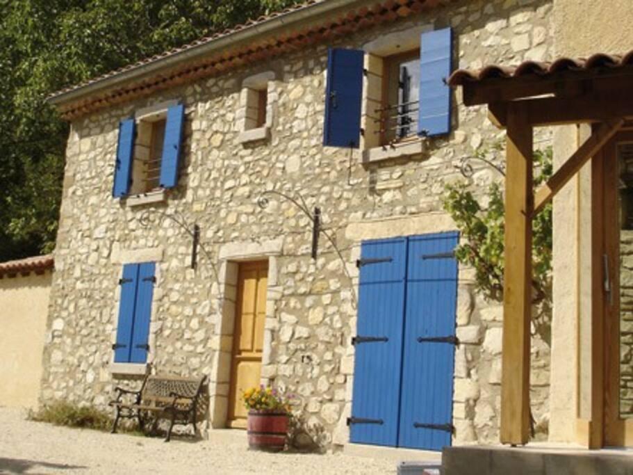 L'extérieur de la maison rénovée récemment