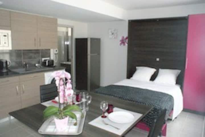 Lodge Fushia 3* pour 2personnes+SPA(jacuzzi sauna)