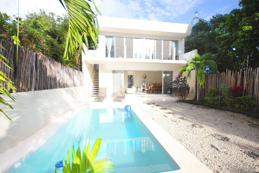 Design villa tulum w wifi pool van villas for rent in for Villas quintana roo