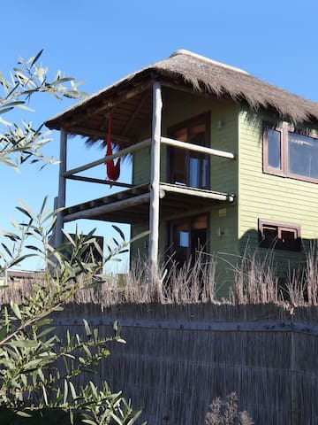 SAMBA - the end cabin with 2 floors. Great views from the upstairs bedroom!