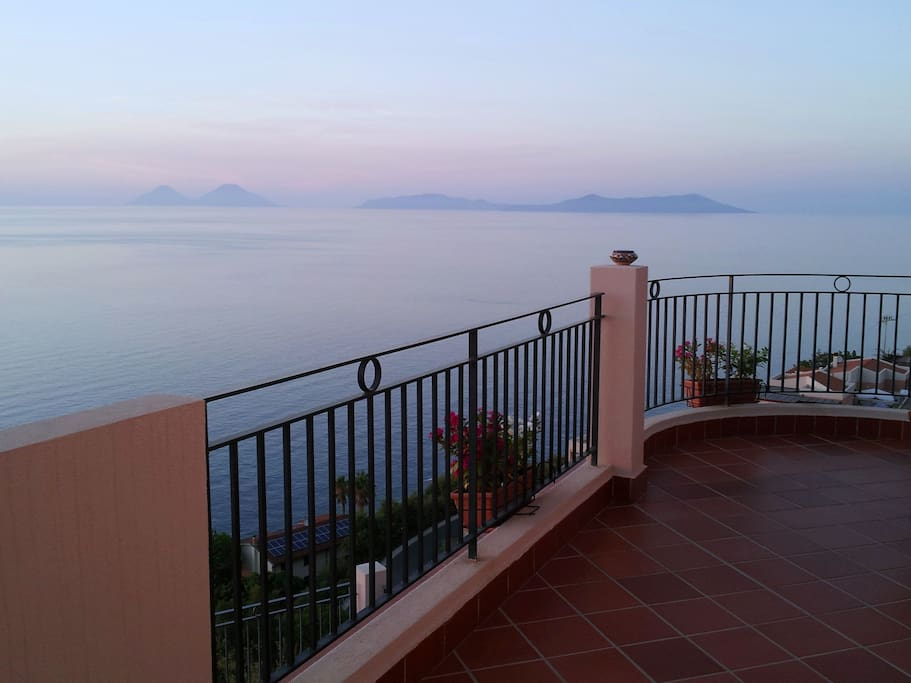 View from the terrace: Aeolian Islands
