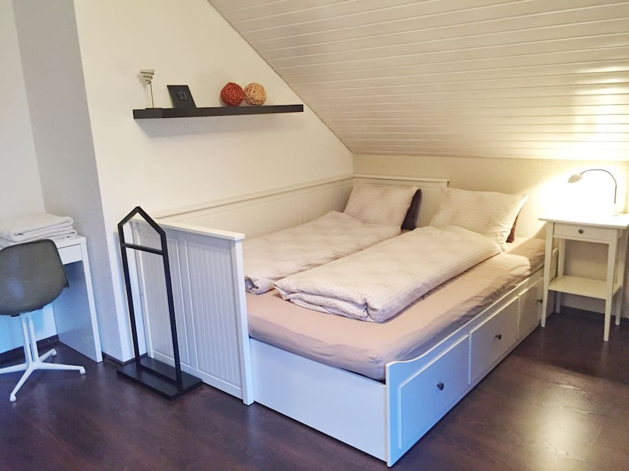 Privat Bedroom for two persons (1.60 m)