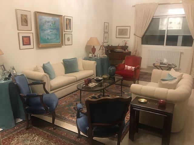 The host's living room