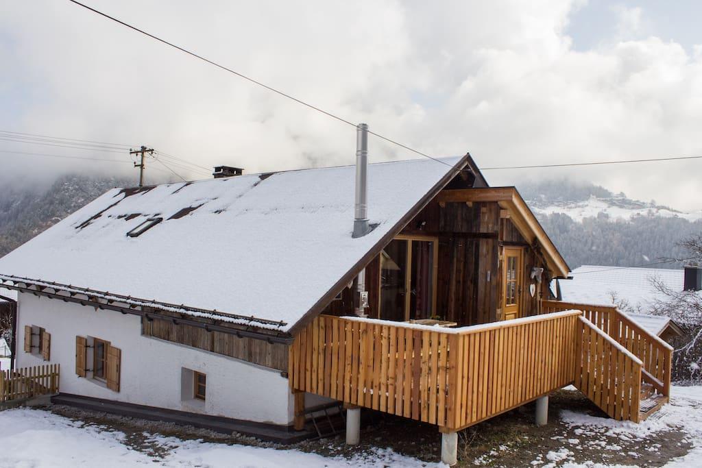 Haus Sautens in winter