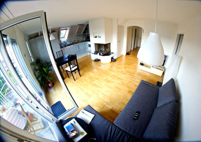 Sunny room in a duplex apartment
